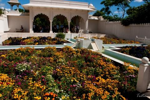 El colorido jardín indio