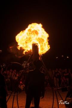 Admiración en la noche del fuego