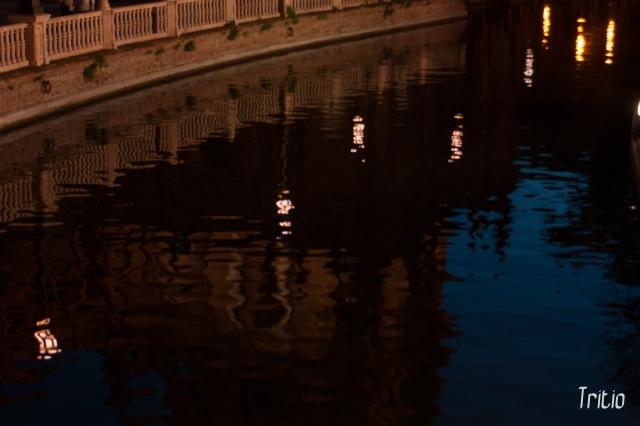 El agua en la plaza de España